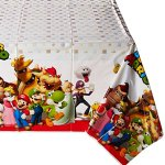 Amscan-Swank-Super-Mario-Brothers-Birthday-Party-Plastic-Table-Cover-Tableware-Decoration-1-Piece-Multi-Color-54-x-96-Others-Supplies-6-0