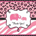 Amscan-Sweet-Safari-Girl-Baby-Shower-Party-Postcard-Thank-You-Cards-4-x-6-Pack-of-20-Others-Supplies-120-Piece-0