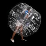Anfan-1215M-Inflatable-Bumper-Ball-256-in-Diameter-Bubble-Soccer-Ball-Transparent-Material-Human-Knocker-Ball-Zorb-Ball-for-Adults-and-Child-0-2