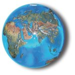 Aqua-Crystal-Earth-Sphere-with-Natural-Earth-Continents-Glass-Stand-Included-14-Inch-Diameter-0