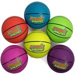 Atomic-Athletics-6-Pack-of-Neon-Rubber-Playground-Basketballs-Regulation-Size-7-95-Balls-with-Air-Pump-and-Mesh-Storage-Bag-by-K-Roo-Sports-0
