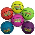 Atomic-Athletics-6-Pack-of-Neon-Rubber-Playground-Basketballs-Youth-Size-5-85-Balls-with-Air-Pump-and-Mesh-Storage-Bag-by-K-Roo-Sports-0