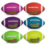 Atomic-Athletics-6-Pack-of-Neon-Rubber-Playground-Footballs–Youth-Size-7-105-Balls-with-Air-Pump-and-Mesh-Storage-Bag-by-K-Roo-Sports-0-0