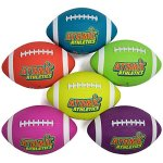 Atomic-Athletics-6-Pack-of-Neon-Rubber-Playground-Footballs-Regulation-Size-9-115-Balls-with-Air-Pump-and-Mesh-Storage-Bag-by-K-Roo-Sports-0