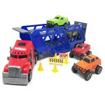 BOLEY-5-in-1-Big-Rig-Hauler-Truck-Carrier-Toy-Complete-Trailer-with-Construction-Toy-Signs-and-Monster-Jam-Trucks-Great-Toy-For-Boys-Girls-Who-Like-Vehicle-Playsets-Toy-Trucks-and-Toy-Cars-0