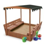 Badger-Basket-Covered-Convertible-Cedar-Sandbox-with-Canopy-and-Bench-Seats-0-1