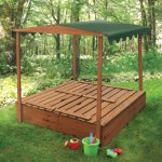 Badger-Basket-Covered-Convertible-Cedar-Sandbox-with-Canopy-and-Bench-Seats-0-2