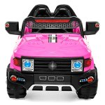Best-Choice-Products-12V-MP3-Kids-Ride-on-Truck-Car-Rc-Remote-Control-LED-Lights-AUX-and-Music-Pink-0-0