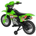 Best-Choice-Products-6V-Electric-Kids-Ride-On-Motorcycle-Dirt-Bike-W-Training-Wheels-Green-0-2