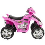 Best-Choice-Products-Pink-Kids-Ride-On-ATV-Quad-4-Wheeler-12V-Battery-Electric-Power-Led-Lights-Music-0-1