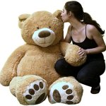 Big-Plush-Personalized-Giant-5-Foot-Teddy-Bear-Premium-Soft-Customized-with-Your-Message-Unique-Gift-for-Valentines-Day-or-Any-Occasion-Hand-stuffed-in-the-USA-Not-Vacuum-Packed-0