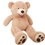 Big-Teddy-Bear-Stuffed-Animals-with-Footprints-Plush-Toy-for-Girlfriend-Brown-51-inches-0