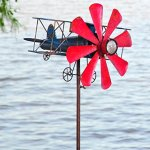 Biplane-With-Solar-Light-Metal-Wind-Spinner-Weatherproof-Outdoor-Kinetic-Windmill-Sculptures-16-L-x-15-12-W-x-63-H-0