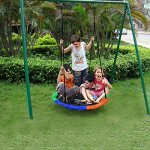 Blue-island-Tree-Swing-Childrens-Outdoor-Large-Size-40-Diameter-Durable-Swing-Easy-Installation-0-0