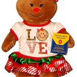 Build-a-Bear-Gingerbread-Girl-2-pc-Outfit-Red-Sparkle-Shoes-16in-Stuffed-Plush-Toy-Set-0