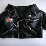 Build-a-Bear-Workshop-15-Plush-Boy-Doll-Clothes-Harley-Davidson-Motorcycle-Black-Jacket-0