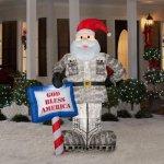 CHRISTMAS-DECORATION-LAWN-YARD-INFLATABLE-AIRBLOWN-MILITARY-SANTA-7-TALL-0