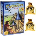 Carcassonne-Game-New-Edition-for-2-to-5-Players–Includes-River-Expansion-The-Abbot-Expansion–Bonus-2-Gold-Drawstring-Storage-Bags-by-Z-Man-Games-0