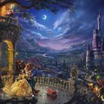 Ceaco-Thomas-Kinkade-the-Disney-Collection-Beauty-and-the-Beast-Dancing-in-the-Moonlight-Jigsaw-Puzzle-750-Piece-0