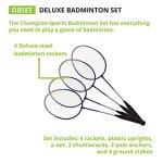 Champion-Sports-Outdoor-Badminton-Set-Net-Poles-4-Rackets-4-Shuttlecocks-Bag-Portable-Equipment-for-Backyard-Games-Team-Sports-Adults-Kids-0-0