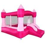 Cloud-9-Princess-Inflatable-Bounce-House-Pink-Castle-Theme-0