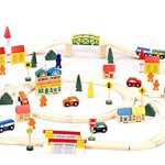 Conductor-Carl-100-Piece-Wooden-Train-Track-Town-Starter-Set-0