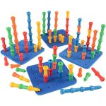 Constructive-Playthings-CPX-438-Giant-Pegboard-Set-with-4-Pegboards-and-100-Hold-Tight-Pegs-0