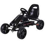 Costzon-Go-Kart-4-Wheel-Powered-Racer-Outdoor-Toy-Kids-Ride-On-Pedal-CarBlack-0