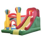Costzon-Inflatable-Bounce-House-Mighty-Balloon-Slide-Bouncer-Kids-Jump-w-Basketball-50-PCS-Balls-Without-Blower-0-0