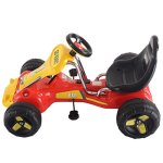 Costzon-Red-Black-Products-Go-Kart-4-Wheel-Kids-Ride-on-Car-Stealth-Pedal-Powered-Outdoor-Racer-0-0