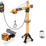 Dickie-Toys-48-Mega-Crane-and-Truck-Vehicle-and-Playset-0-0
