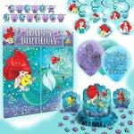 Disney-Princess-Dream-Big-Ariel-Premium-Birthday-Party-Pack-Decoration-Kit-0