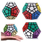 Dreampark-Speed-Cube-Bundle-5-Pack-2×2-3×3-Pyramid-Megaminx-Skewb-Magic-Cube-Puzzle-collection-Toys-for-Kids-and-Adults-Black-0-1