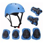 Elesky-Kids-Adjustable-Sports-Protective-Gear-Set-Safety-Pad-Safeguard-Helmet-Knee-Elbow-Wrist-Roller-Bicycle-BMX-Bike-Skateboard-Hoverboard-and-Other-Extreme-Sports-Activities-0