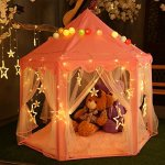 Extra-Thick-Kids-Indoor-Princess-Castle-Play-Tents-with-Beading-DecorationOutdoor-Girls-Large-Playhouse55x-53-0-0