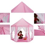 Extra-Thick-Kids-Indoor-Princess-Castle-Play-Tents-with-Beading-DecorationOutdoor-Girls-Large-Playhouse55x-53-0-2