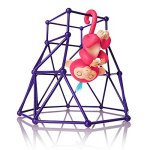 Fingerlings-Jungle-Gym-Playset-Interactive-Baby-Monkey-Aimee-Coral-Pink-with-Blue-Hair-0-0