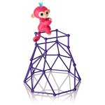 Fingerlings-Jungle-Gym-Playset-Interactive-Baby-Monkey-Aimee-Coral-Pink-with-Blue-Hair-0-1