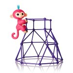 Fingerlings-Jungle-Gym-Playset-Interactive-Baby-Monkey-Aimee-Coral-Pink-with-Blue-Hair-0