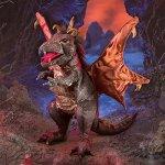 Folkmanis-Dragon-Hand-Puppet-Plush-Black-0-1