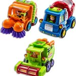 Friction-CarSet-of-3-Push-and-Go-Toys-for-Toddlers-Street-Sweeper-Truck-Cement-Mixer-Truck-Harvester-Toy-Truck-with-Automatic-Rotating-Functions-0