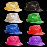 Fun-Central-O993-LED-Light-Up-Sequin-Fedoras-Assorted-Colors-12ct-0-0