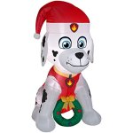 Gemmy-Airblown-Inflatable-Paw-Patrol-Marshall-wWreath-45-ft-Tall-IndoorOutdoor-Decoration-0