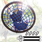 Giant-Tree-Swing-Easy-Install-Hanging-Strap-Set-Adjustable-Ropes-Spinner-Kit-Heavy-Duty-Weatherproof-Spider-Web-Seat-Fully-Assembled-Steel-Frame-Holds-600-lbs-Kids-Adults-0