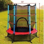 Giantex-55-Round-Kids-Mini-Jumping-Trampoline-W-Safety-Pad-Enclosure-Combo-Multicolor-0-0