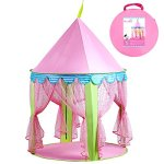 Girls-Princess-Castle-Play-Tents-EocuSun-Christmas-Xmas-Children-Pink-Play-Tent-House-with-Storage-Case-for-Indoor-and-Outdoor-Use-Santa-Gifts-0-0