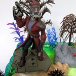 Guardians-of-the-Galaxy-Birthday-Cake-Topper-Set-Featuring-Figures-and-Decorative-Themed-Accessories-0-0