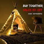 HAN-MM-Floral-Classic-Ivory-Kids-Teepee-Kids-Play-Tent-Childrens-Play-House-Tipi-Kids-Room-Decor-0-0