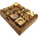 Handmade-Puzzle-Sets-Twelve-Brain-Teasers-with-the-Puzzle-Showcase-12-Wooden-Game-Gift-Set-Handmade-Wooden-Puzzles-for-Adults-By-RATREE-SHOP-0-1