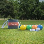 Harvil-90mm-Bocce-Ball-Set-Includes-8-Poly-Resin-Balls-1-Pallino-1-Nylon-Zip-Up-Carrying-Case-and-Measuring-Rope-0-1